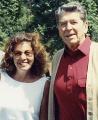judy chamberlain with president reagan in los angeles